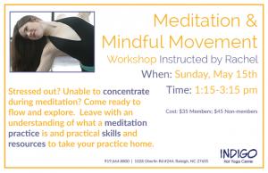 2016 Meditation and Mindful Movement Workshop
