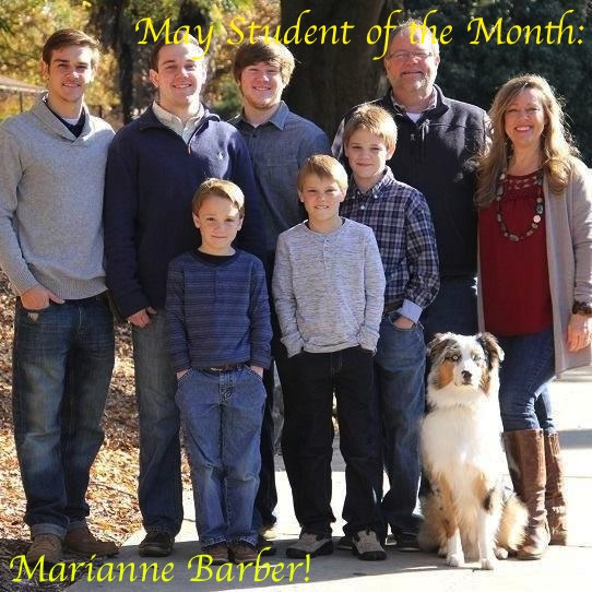 May Student of the Month - Marianne Barber
